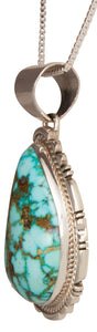 Navajo Native American Kingman Turquoise Pendant Necklace by Charley SKU229376