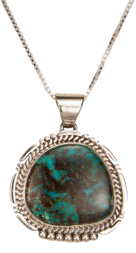 Navajo Native American Mine Sunnyside Turquoise Pendant Necklace SKU229396