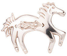 Load image into Gallery viewer, Navajo Native American Sterling Silver Horse Pin by Manuelito SKU229412