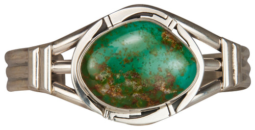 Navajo Native American Crow Springs Turquoise Bracelet by Sanchez SKU229435