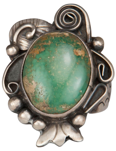 Navajo Native American Carico Lake Turquoise Ring Size 8 3/4 SKU229461