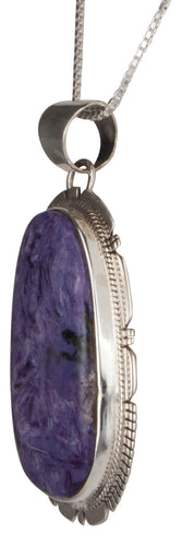 Navajo Native American Charoite Pendant Necklace by Kathy Yazzie SKU229465