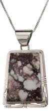 Load image into Gallery viewer, Navajo Native American Wild Horse Magnesite Pendant Necklace SKU229475