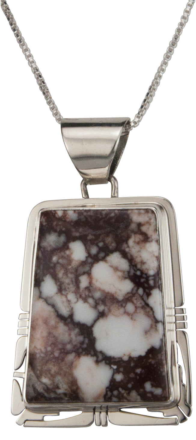 Navajo Native American Wild Horse Magnesite Pendant Necklace SKU229475