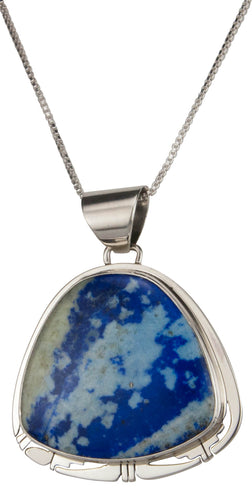 Navajo Native American Denim Lapis Pendant Necklace by Sanchez SKU229480
