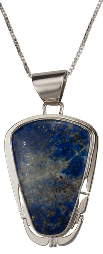 Navajo Native American Denim Lapis Pendant Necklace by Sanchez SKU229482