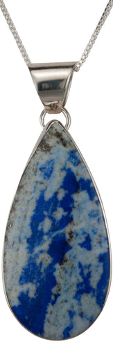 Navajo Native American Denim Lapis Pendant Necklace by Lyle Piaso SKU229484