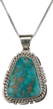 Load image into Gallery viewer, Navajo Native American Kingman Turquoise Pendant Necklace by Charley SKU229507