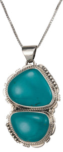 Navajo Native American Kings Manassa Turquoise Pendant Necklace SKU229508