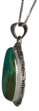 Load image into Gallery viewer, Navajo Native American Kings Manassa Turquoise Pendant Necklace SKU229510