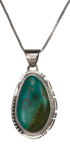 Navajo Native American Kings Manassa Turquoise Pendant Necklace SKU229510