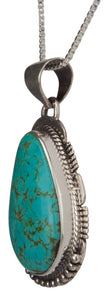 Navajo Native American Kings Manassa Turquoise Pendant Necklace SKU229512