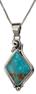 Navajo Native American Mine Number Eight Turquoise Pendant Necklace SKU229521