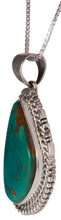 Load image into Gallery viewer, Navajo Native American Royston Turquoise Pendant Necklace by Charley SKU229544