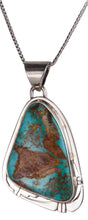 Load image into Gallery viewer, Navajo Native American Easter Blue Turquoise Pendant Necklace SKU229551