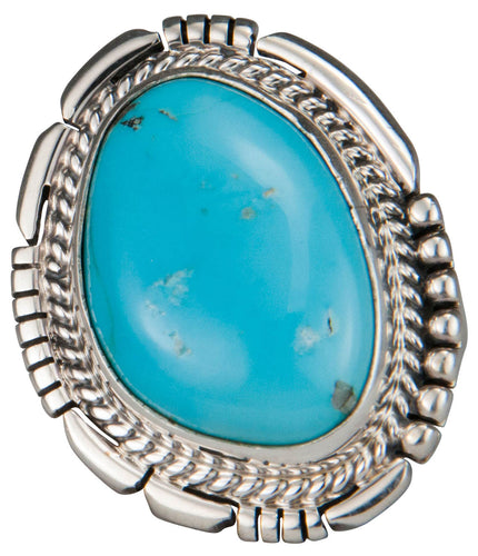 Navajo Native American Castle Dome Turquoise Ring Size 7 1/4 SKU229586