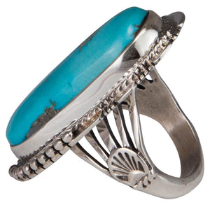 Navajo Native American Castle Dome Turquoise Ring Size 7 1/4 by Jake SKU229588