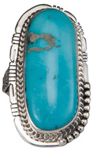 Load image into Gallery viewer, Navajo Native American Castle Dome Turquoise Ring Size 7 1/4 by Jake SKU229588