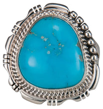 Load image into Gallery viewer, Navajo Native American Castle Dome Turquoise Ring Size 9 1/2 by Jake SKU229590