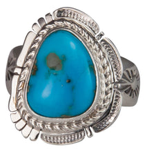 Load image into Gallery viewer, Navajo Native American Castle Dome Turquoise Ring Size 8 by Ration SKU229593