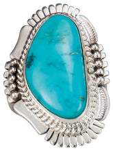 Load image into Gallery viewer, Navajo Native American Castle Dome Turquoise Ring Size 8 by Ration SKU229598