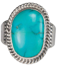 Load image into Gallery viewer, Navajo Native American Castle Dome Turquoise Ring Size 10 3/4 SKU229604