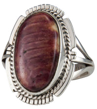Load image into Gallery viewer, Navajo Native American Spiny Oyster Shell Ring Size 9 by Yazzie SKU229614