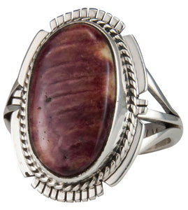 Navajo Native American Spiny Oyster Shell Ring Size 9 by Yazzie SKU229614