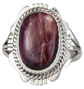 Navajo Native American Spiny Oyster Shell Ring Size 6 1/4 by Yazzie SKU229618