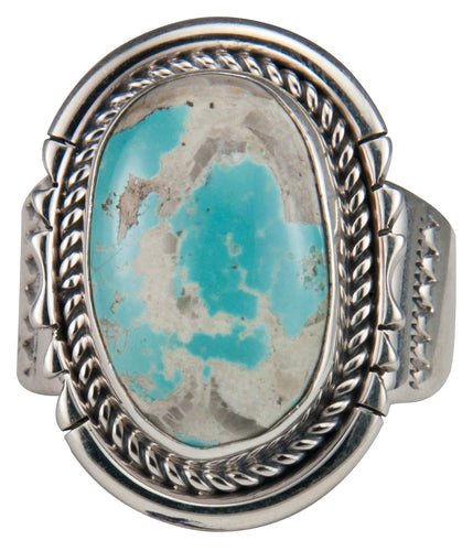 Navajo Native American Royston Boulder Turquoise Ring Size 10 1/2 SKU229629