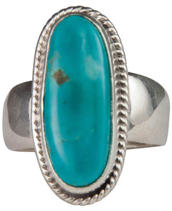 Navajo Native American Kings Manassa Turquoise Ring Size 6 3/4 SKU229637