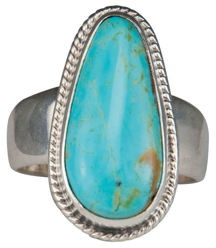 Navajo Native American Kings Manassa Turquoise Ring Size 9 by Piaso SKU229638