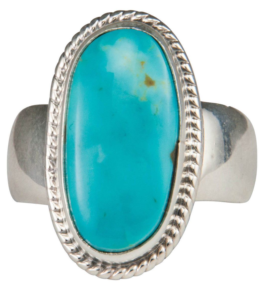 Navajo Native American Kings Manassa Turquoise Ring Size 7 by Piaso SKU229641
