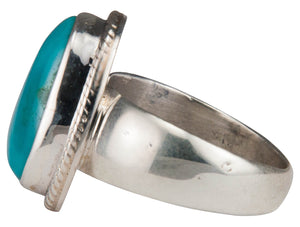 Navajo Native American Kings Manassa Turquoise Ring Size 8 by Piaso SKU229642