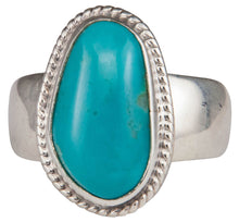Load image into Gallery viewer, Navajo Native American Kings Manassa Turquoise Ring Size 8 by Piaso SKU229642