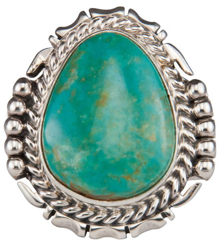Navajo Native American Pilot Mountain Turquoise Ring Size 11 SKU229663