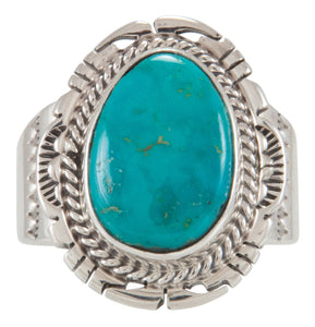 Navajo Native American Royston Turquoise Ring Size 10 1/2 by Jake SKU229673