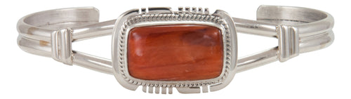 Navajo Native American Orange Spiny Shell Bracelet by Larson Lee SKU229685
