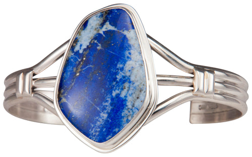 Navajo Native American Denim Lapis Bracelet by Joe Piaso Jr. SKU229694