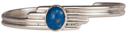 Navajo Native American Denim Lapis Bracelet by Freddy Charley SKU229698