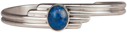 Navajo Native American Denim Lapis Bracelet by Freddy Charley SKU229702