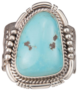 Navajo Native American Morenci Mine Turquoise Ring Size 13 3/4 SKU229710