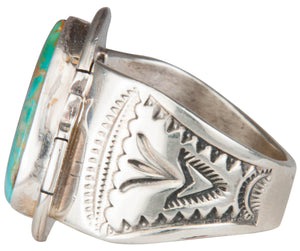 Navajo Native American Crow Mountain Turquoise Ring Size 13 3/4 SKU229715