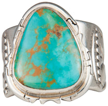 Load image into Gallery viewer, Navajo Native American Crow Mountain Turquoise Ring Size 13 3/4 SKU229715