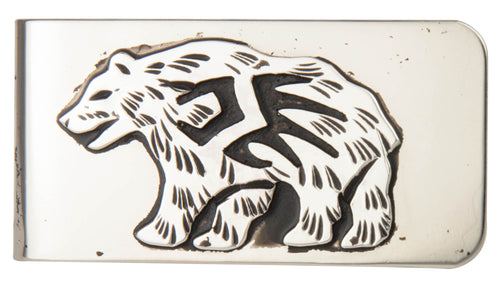 Navajo Native American Bear Money Clip by Richard Singer SKU229807