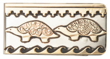 Load image into Gallery viewer, Navajo Native American Silver and Gold Turtle Money Clip by Singer SKU229815