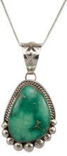 Load image into Gallery viewer, Navajo Native American Broken Arrow Turquoise Pendant Necklace SKU229817