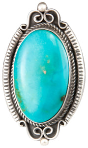 Navajo Native American Kingman Turquoise Ring Size 10 3/4 SKU229856