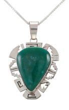 Load image into Gallery viewer, Navajo Native American Broken Arrow Turquoise Pendant Necklace SKU229893
