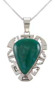 Navajo Native American Broken Arrow Turquoise Pendant Necklace SKU229893